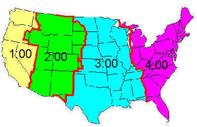 Us Area Code And Timezone Map Printable - Us-timezone-map-printable